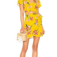 BEACH RIOT x REVOLVE Lexi Wrap Skirt in Yellow | REVOLVE