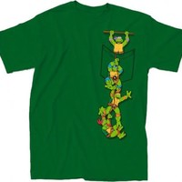 Teenage Mutant Ninja Turtles Pocket Adult Green T-Shirt - Teenage Mutant Ninja Turtles - | TV Store Online