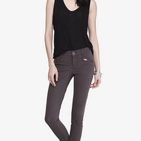 Grey Mid Rise Hip Zip Legging from EXPRESS