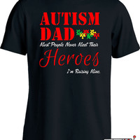 Autism Awareness T Shirt Autism Gifts For Men Autism Dad Shirt Autistic T Shirt Gifts For Dad Autism Spectrum Advocate Mens Tee MD-351D
