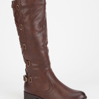 Adriana Alicia Womens Riding Boots Brown  In Sizes