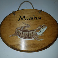 Bearded dragon plaque