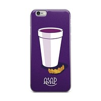A$AP & Lean Asap Ferg Asap Rocky Asap Ant Asap Mob Gold Grill White Cup Full Of Promethazine Codeine Purple iPhone 4 4s 5 5s 5C 6 6s 6 Plus 6s Plus 7 & 7 Plus Case