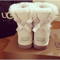 Tagre UGG Women Trending Fashion Wool Snow Boots