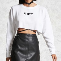 K Bye Graphic Crop Top