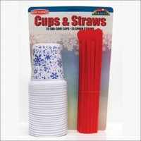 Back to Basics FCS25 Flat Bottom Cup with Straw