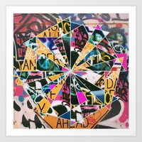 Graffiti Mosaic Art Print by Raw Sugar
