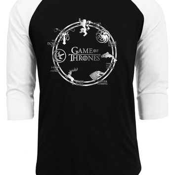 2017 new fashion brand streetwear homme game of thrones t shirt men funny hipster raglan sleeeve casual cotton tops tee shirt pp
