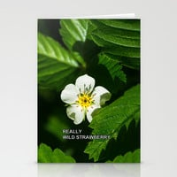 Wild Strawberry Flower Stationery Cards by Digital2real