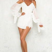 Sunrise To Sunset Playsuit White