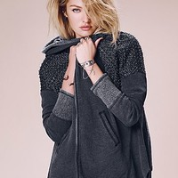 Free People Womens Sparkle Dust Zip Up Hoodie - Washed