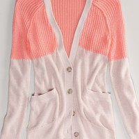 AEO Women's Colorblock Girlfriend Cardigan