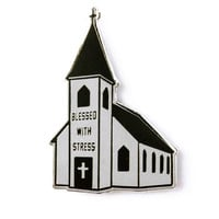 Blessed With Stress Lapel Pin