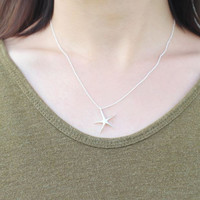 925 sterling silver Starfish Necklace ,N1075S
