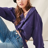 Urban Renewal Recycled Silky Tie-Front Top | Urban Outfitters