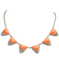 Fashion Triangle Necklace Charms Necklace Chunky Statement Necklaces