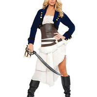 Deluxe Colonial Pirate Costume   Sexy Clothes Womens Sexy Dresses Sexy Clubwear Sexy Swimwear   Flirt Catalog
