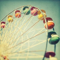 Ferris Wheel Photograph, Fine Art Photography, Carnival - Let the Great World Spin