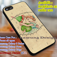 Never Say Goodbye Peter Pan Quote iPhone 6s 6 6s+ 6plus Cases Samsung Galaxy s5 s6 Edge+ NOTE 5 4 3 #cartoon #animated #disney #peterpan dl3