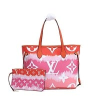 LV Louis Vuitton OFFICE QUALITY MONOGRAM CANVAS NEVERFULL HANDBAG TOTE BAG