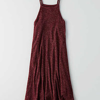 AEO Ribbed Hi-Neck Dress , Burgundy