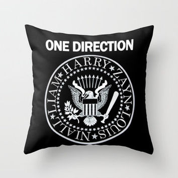 One Direction Infection Throw Pillow by Taylor St. Claire   Society6