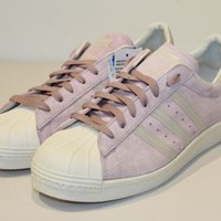 NEW ADIDAS ORIGINALS SUPERSTAR 80S LIGHT ROSE MEN'S SHOES SIZE 9