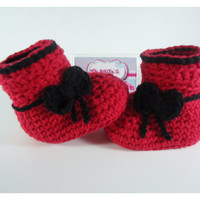 """Crochet Baby booties, Baby shoes, Custom baby shoes, fashion baby shoes, baby accessories - For him and for her - Up to 12 cm (4.7"""")"""