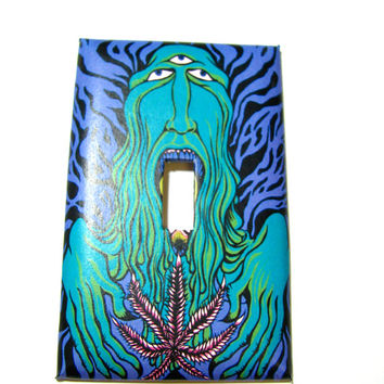 Light Switch Cover - Light Switch Psychedelic Marijuana Groovy