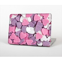The Pink and Purple Candy Hearts Skin Set for the Apple MacBook Air 13""