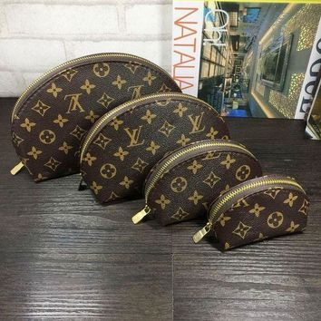 Tagre™ LV Louis Vuitton Cosmetic Bags For Accessories Travel Storage Cosmetic Bag Four Piece Suit