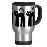 Black Cat Witch Familiar Pagan Mug Wiccan Cup