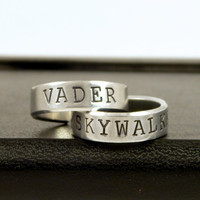 Skywalker and Vader Ring Set - Star Wars - Best Friends - Couples Ring Set