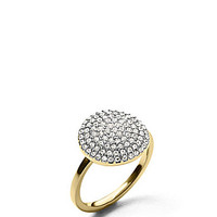 Michael Kors Pave Disc Cocktail Ring - Silver