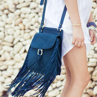 Belleza bag with fringe in royal