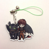 Reversible How to Train your Dragon charm - Hiccup and Toothless