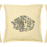 Head Status Printed Khaki Decorative Throw Pillows Cover Case VPLC_02 Size 18x18