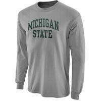 Michigan State Spartans Ash Vertical Arch Long Sleeve T-shirt