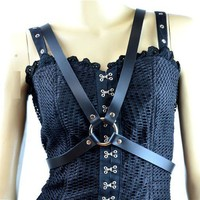 Black Leather X Women's Fashion Harness