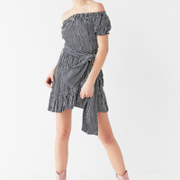 Faithfull The Brand Caria Off-The-Shoulder Belted Dress | Urban Outfitters