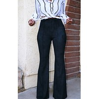 Donna Suede Flare Pants