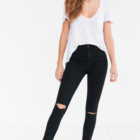 BDG Twig Ripped High-Rise Skinny Jean - Black | Urban Outfitters