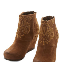 ModCloth Rustic In Your Heart of Hearths Bootie
