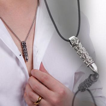 Stainless Steel Bullet Necklace Pendant Necklaces  Jewelry