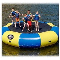 Rave Sports Bongo 15 ft. Water Trampoline with Slide and Launch