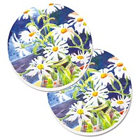 Flowers - Daisy Set of 2 Cup Holder Car Coasters 6003CARC