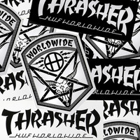 HUF X THRASHER ASSORTED STICKER PACK (6)