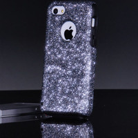 Otterbox iPhone 5c Case Custom Glitter Commuter Smoke iPhone 5c Otterbox Sparkly Bling Glitter Case