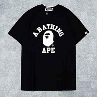 Bape Aape Summer Fashion Casual Shirt Top Blouse Black