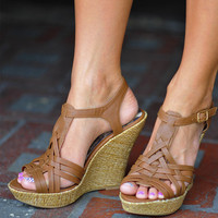 Perfect Summer Wedge: Brown   Hope's